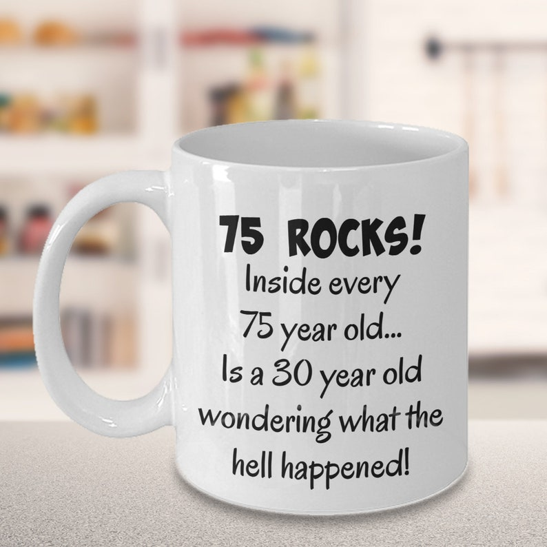 Happy 75 Year Old 1944 75th Birthday Gift Mug For Women Or