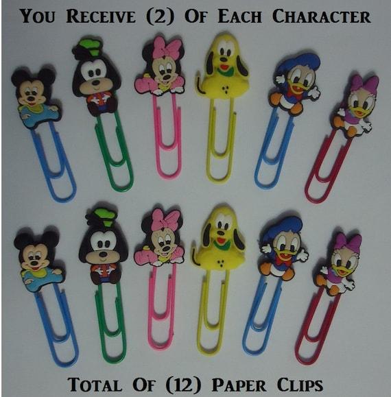 Baby Buroklammern Mickey Baby Minnie Paper Clips Goofy Baby Etsy