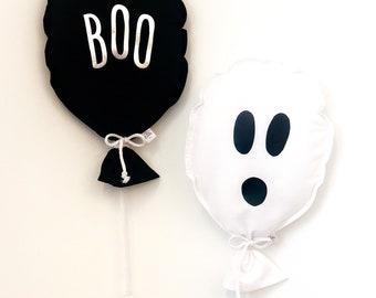 Phantom white balloon: decorative balloon in fabrics in the shape of a baudruche. Reusable balloon. HALLOWEEN