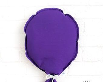 Festive wall balloons: violet fabric balloon to decorate. Custom balloon, reusable child's birthday