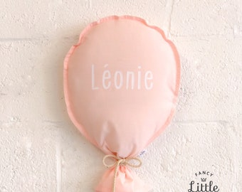 Party wall balloons ROSE PALE: fabric balloon to decorate. Custom balloon, reusable child birthday