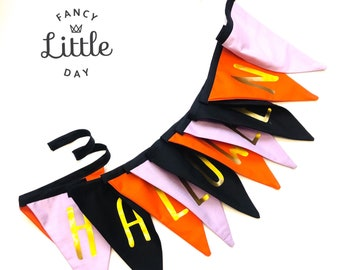 Create your pennant garland in cotton fabrics. Reusable party decoration. Birthday Party Shop. Banner without registration