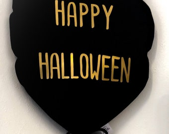 HAPPY HALLOWEEN balloon: fabric balloon. Reusable personalized balloon. Choose the color of your Balloon and that of the inscription