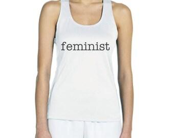Feminist typewriter Women Tank Top