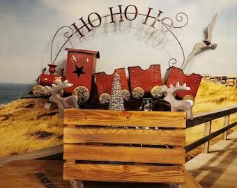 Advent box, flamed wooden box, storage box Christmas decoration, magazine box, newspaper box, book box, toy box,