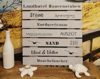 Wanddeko personalisiert Hotel Restaurant Geschenk Eröffnung Wanddeko Holz personalisiert, Tafel mit Daten,Holzschild,Erinnerungstafel