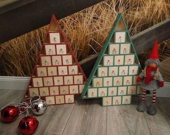 Adventskalender Aus Holz Zum  Befüllen,Weihnachtsbaum,Adventszeit,Weihnachten,Kalender,Nikolaus,Merry  Christmas,Weihnachtsdeko,Adventsdeko
