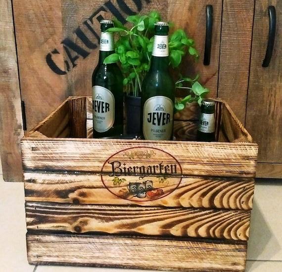 Biergarten Kiste Aus Holzholzkistegeschenk An Etsy
