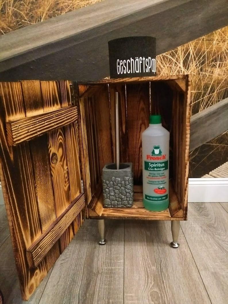 Badregal Bathroom Cupboard Badschrank Wood Shelf Wooden Etsy