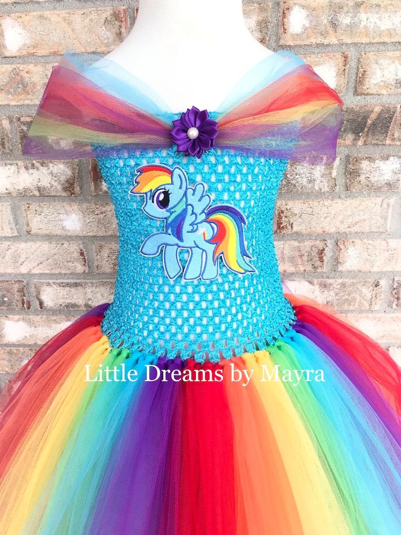 My Little Pony Rainbow dash inspired tutu dress Rainbow dash costume inspired size nb to 12years