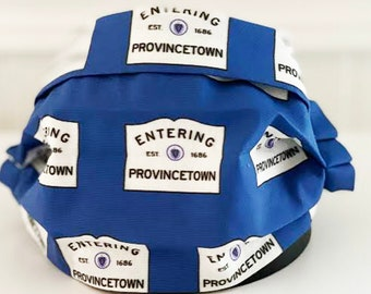 """Locally Handmade """"Entering Provincetown"""" Face Mask"""