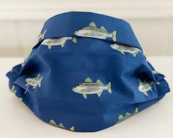 "Locally Handmade ""Striped Bass Fish"" Face Mask"