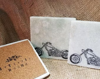 Motorcycle marble coasters