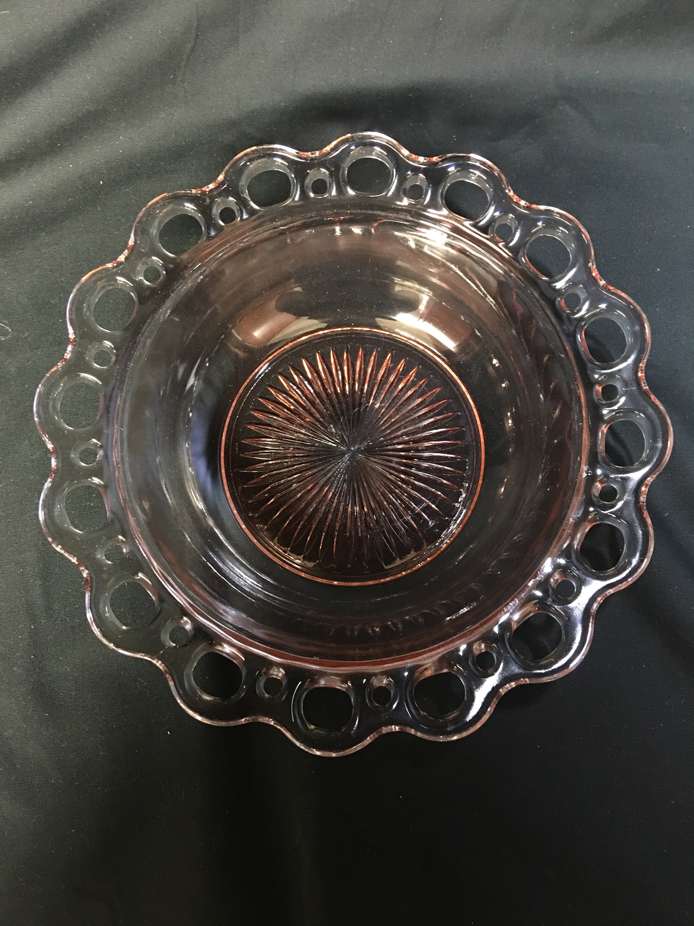 Vintage Anchor Hocking Old Colony Pink Depression Glass Bowl