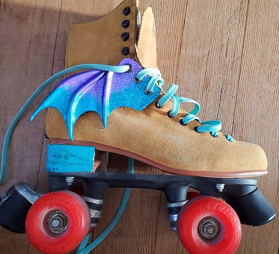 Batwing shoe accessories Bat wing winged shoe accessories Shoe wing accessories Veganvegetarian Roller Derby roller skate accessories