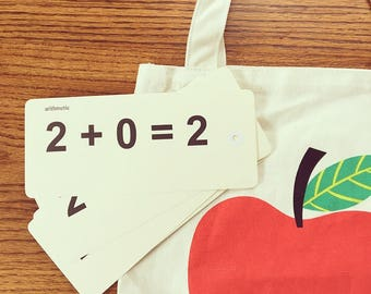 old fashioned arithmetic flashcards
