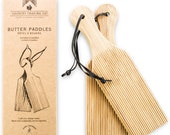Sustainable Wooden Butter Gnocchi Paddles