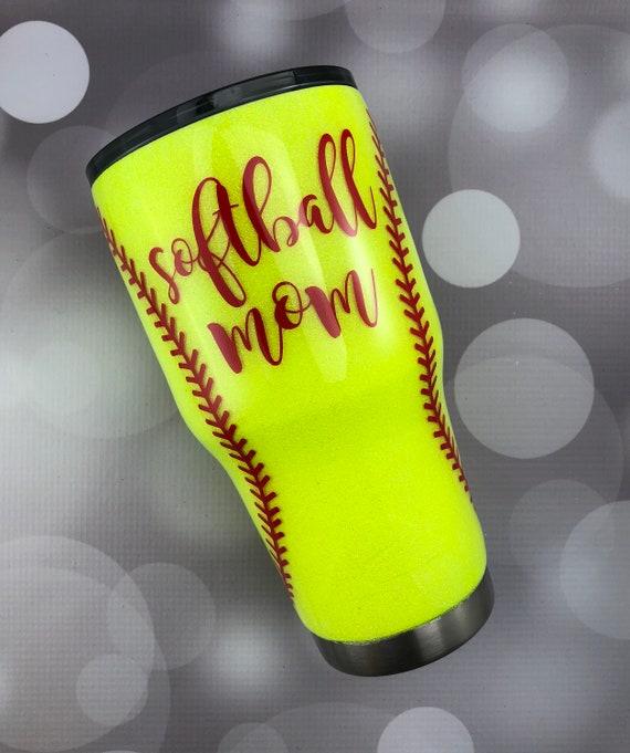 Bath Softball Glitter Tumbler Tumblers