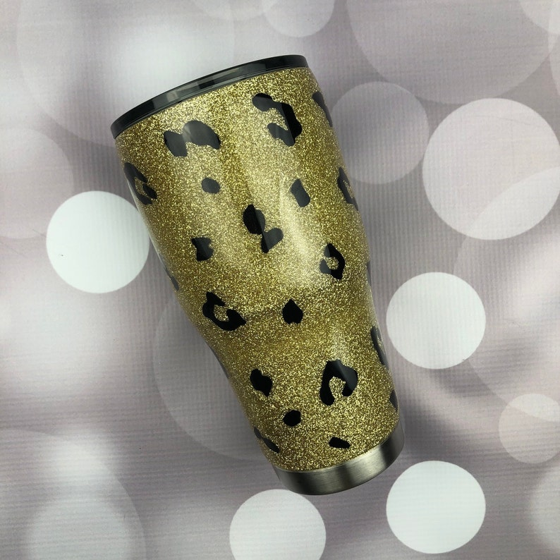 b9f79c90500 Cheetah Glitter Tumbler Cheetah Glitter Yeti Cheetah Glitter | Etsy