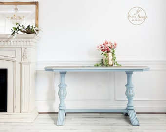 Vintage Console, Library Table, French Country, Foyer Table, Entryway Table, Console, Painted Furniture, Modern Farmhouse, Farmhouse Decor