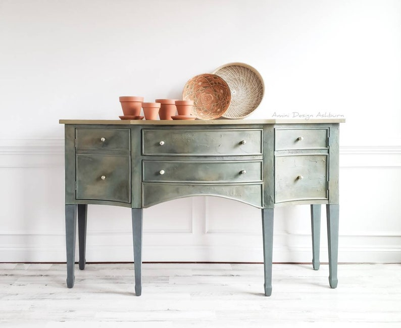 Vintage Sideboard. Modern Farmhouse Buffet. French Country image 0