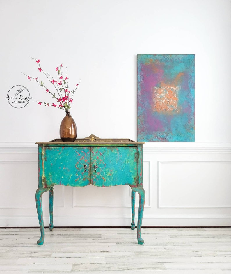 Petite Buffet. Queen Anne Buffet. Boho Table. Accent Table. image 0