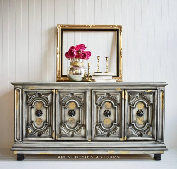 SOLD - Elegant Buffet Glam Style Dining Room Media Console