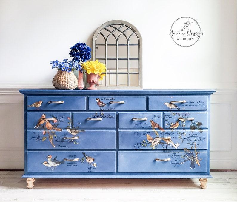 Bedroom Dresser. Aviary Dresser. Chest of Drawers. image 0