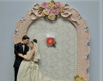 Vintage 8 X 10 Wedding Frame in Excellent Condition, Perfect Wedding or Anniversary Gift  With Reduced Shipping