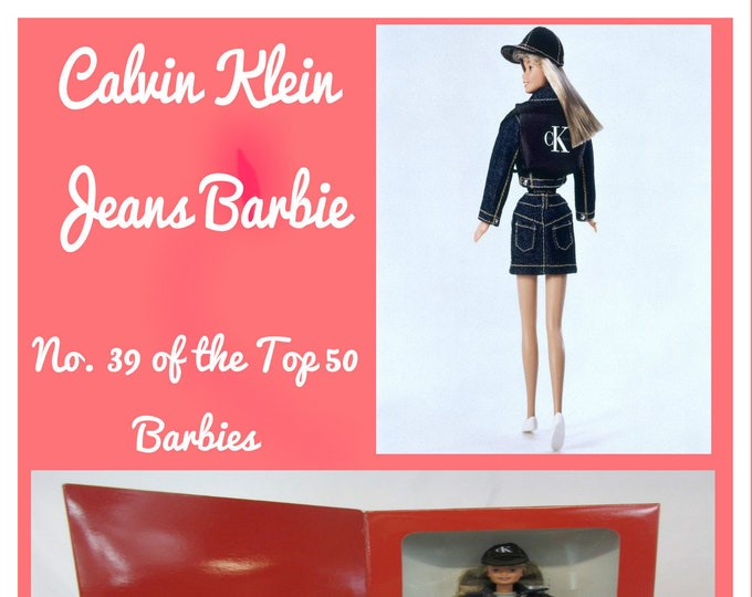 BARBIE, Calvin Klein Jeans Barbie, New in original unopened box, Rated No 39 of the Top 50 by Wall Street 24/7,  With Reduced Shipping