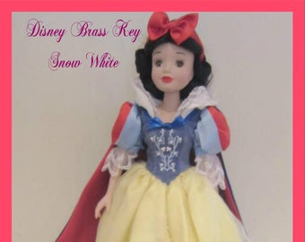 Disney Brass Key Porcelain Snow White, 90's Snow White  New in the original box with reduced shipping