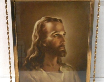 Jesus 9 X 11 Wall Hanging in Frame, Vintage Picture and Frame, In Excellent Condition, With FREE  Shipping