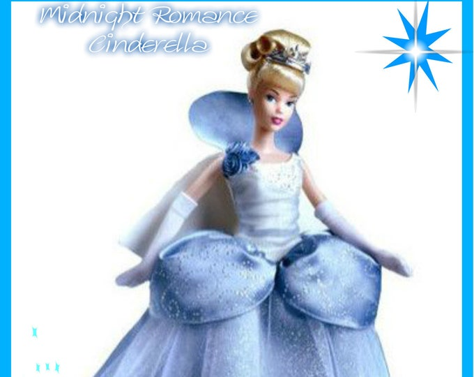 TOYS- Barbie Disney Midnight Romance Cinderella in original unopened box Mint condition, with Reduced Shipping