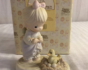 "Precious Moments Figurine ""An Event worth wading for""   In original box, Excellent Condition, With Reduced Shipping"