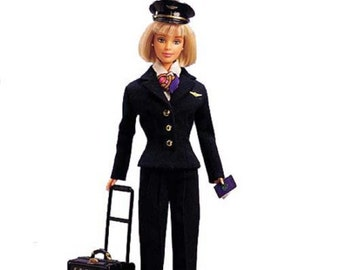 Barbie Pilot Doll wtih Short Blonde Hair, New in Box , from the 90's, No. 24017, With Reduced Shipping