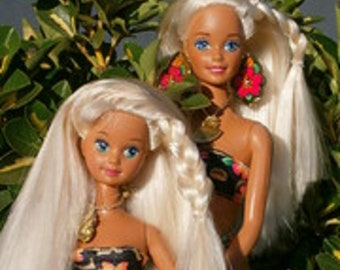 Tropical Splash Barbie Doll and Skipper Doll (1994), New in Box, With free shipping