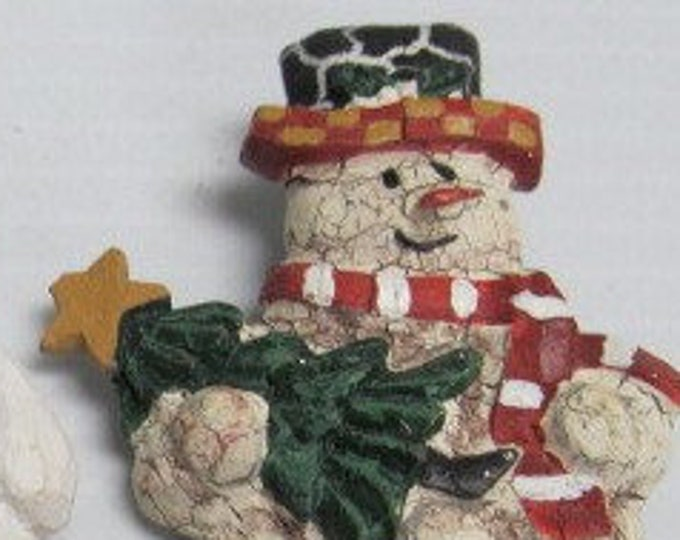 Snowman Christmas Broach's, Set of Three, All three in Excellent Condition, Beautiful Set just in time for Christmas, With Reduced Shipping