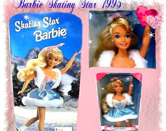 Barbie Skating Star 1995 New in Box , Limited Edition , Unique Retro Barbie, With Free Shipping