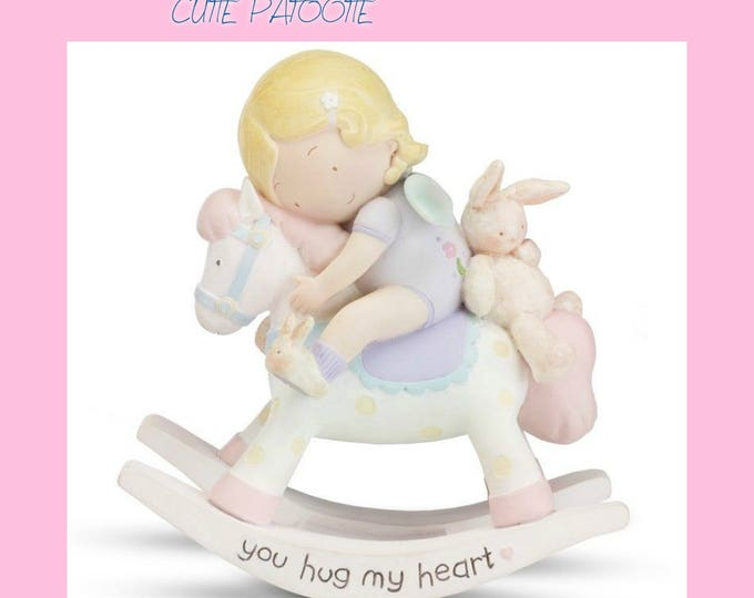 "Cutie Patootie Figurine "" you hug my heart"" by Homeco - Excellent Condition"