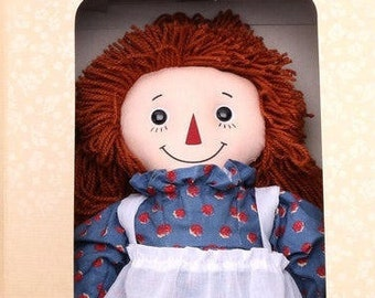 Raggedy Ann 85th Anniversary Doll NEW in the original unopened Box, w/  Bonus Vintage Winton Raggedy Ann Cake Pan - Reduced Shipping