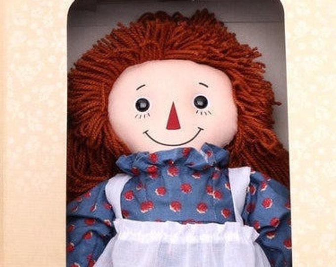 Raggedy Ann 85th Anniversary Doll NEW in the original unopened Box, w/  Bonus Vintage Winton Raggedy Ann Cake Pan - Reduced Shipping