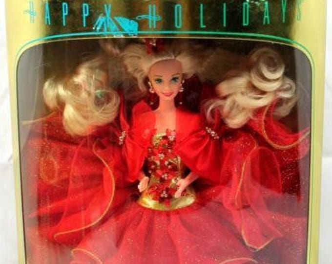 1993 Happy Holiday Barbie-The 6th Happy Holiday Barbie - In Original Box - Never Opened