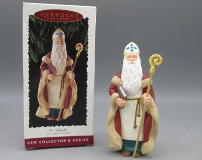 Hallmark St. Nicholas Ornaments, 1995, in the original box, New Condition,  Hallmark St. Nicholas Christmas Vistors
