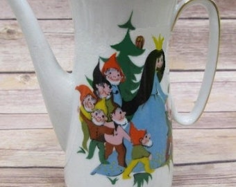 Rare Set Snow White Vintage Antique China Tea Set ,From the Original Finland Storybook Edition Characters, with Reduced Shipping