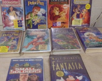 Walt Disney VHS Movies In original pakcage and Plastic, Ten Vintage Classics that are Collectable Disney