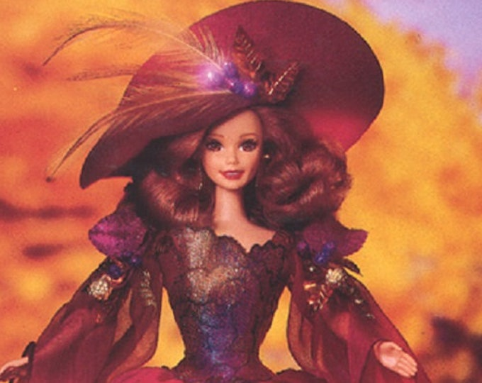 Featured listing image: Barbie-  Autumn Glory Barbie Collectors Edition from 1995, in the original box, New Barbie, With Reduced Shipping