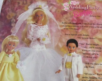 Barbie 1994 Wedding Party Barbie Deluxe Set. Special Edition. Collector Barbie Set, New In Box. With Reduced Shipping