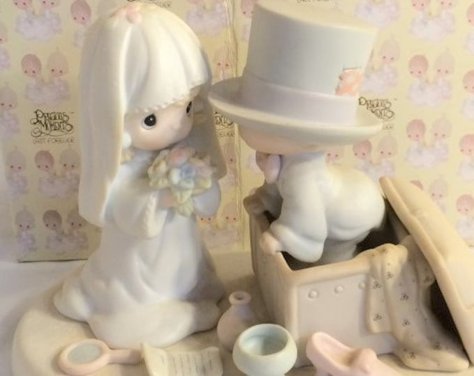 """Precious Moments Retired Figurine """"Heaven Bless your Togetherness"""" In the original box, Excellent Condition with no chips or cracks"""