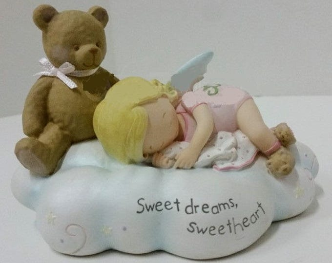 "Cutie Patootie Figurine ""Sweetdreams Sweetheart"" by Homeco in excellent condition"