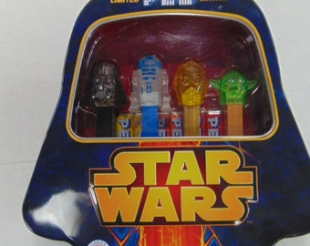 Pez Star Wars Collectable Tin Gift Set with Four Star Wars Characters, LE with 300 produced, With Reduced Shipping